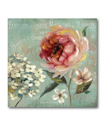 Le Jardin De Paris II Canvas Wall Art