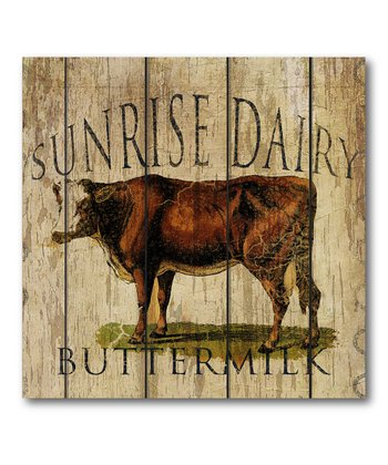 'Sunrise Dairy' Buttermilk Canvas Wall Art