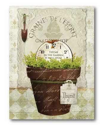 Herb Pot 'Thyme' Canvas Wall Art