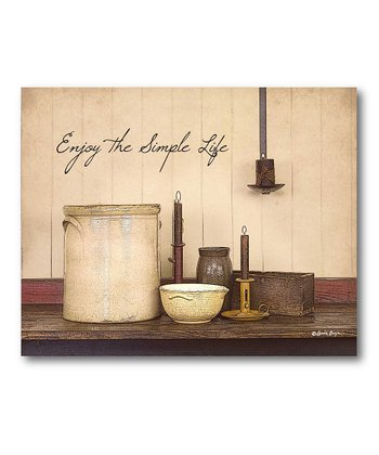 'The Simple Life' Canvas Wall Art