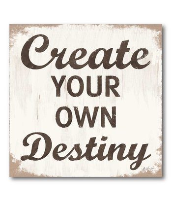 'Create Your Own Destiny' Canvas Wall Art