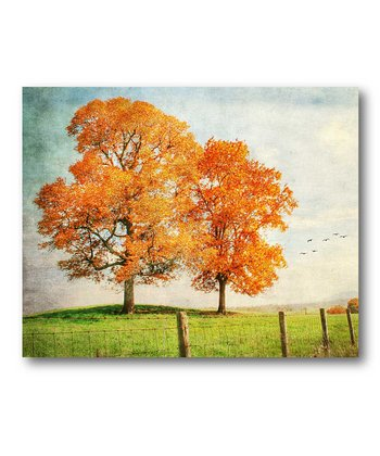 The Fall Trees Canvas Wall Art