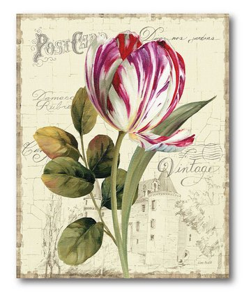Pink & White Tulip Canvas Wall Art
