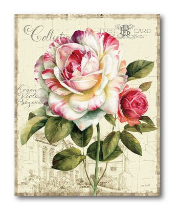 Pink & White Rose Canvas Wall Art