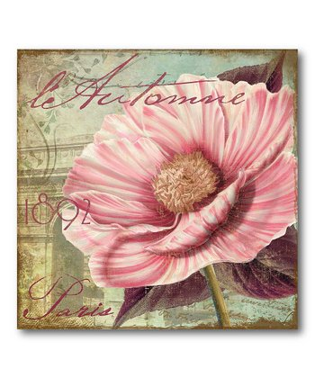 Paris Pink Flower II Canvas Wall Art