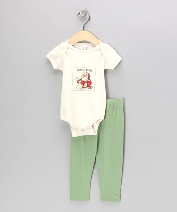 Natural 'Better Be Good' Organic Bodysuit & Pants - Infant