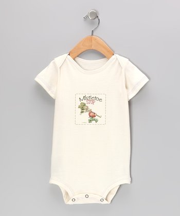 Natural 'Mistletoe Stop' Organic Bodysuit - Infant