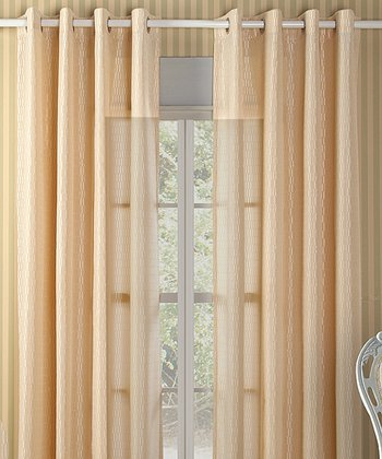 Beige Shadows Curtain Panel - Set of Two