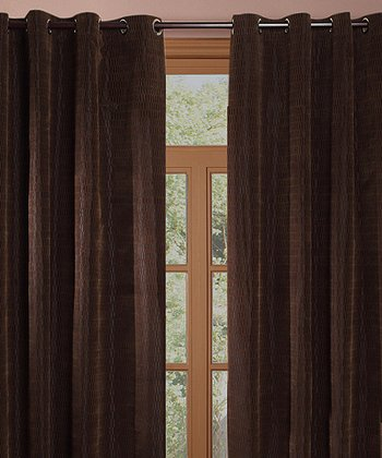 Brown Shadows Curtain - Set of Two