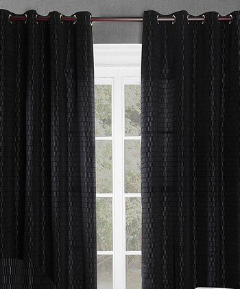 Black Shadows Curtain Panel - Set of Two