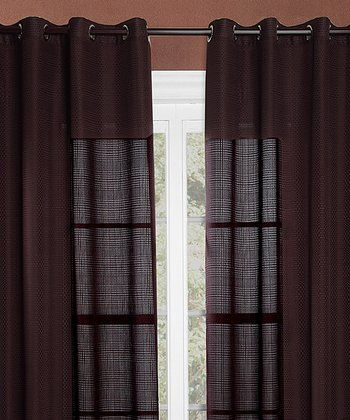 Brown Crystal Curtain - Set of Two
