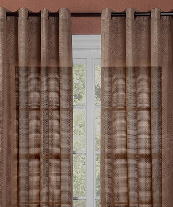 Gold Crystal Curtain Panel - Set of Two