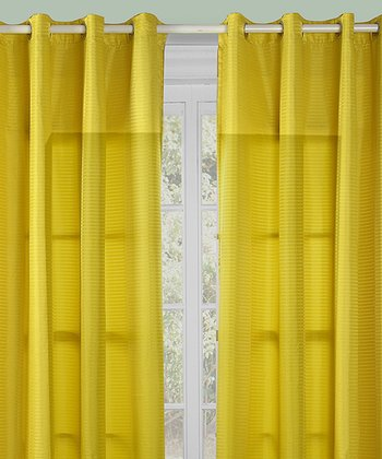Yellow Reign Curtain - Set of Two