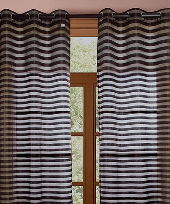 Brown Heidi Curtain - Set of Two