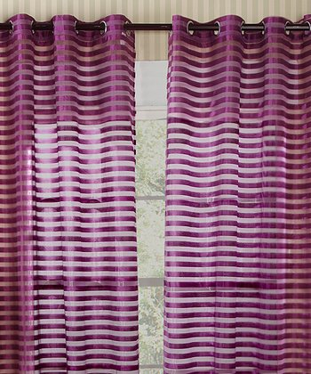 Purple Heidi Curtain - Set of Two