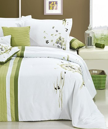 Sage Arabesque King Comforter Set