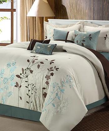 Beige Bliss Garden Comforter Set
