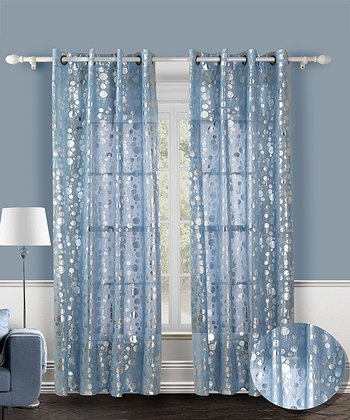 Blue Spotlight Curtain Panel - Set of Two