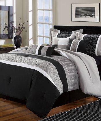 Black Euphoria Comforter Set