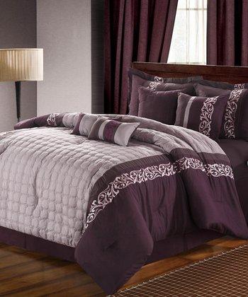 Plum Glendale Comforter Set