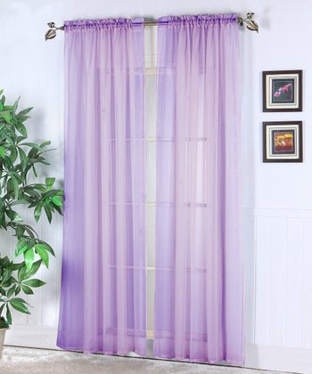 Cloud Abby Sheer Voile Curtain Panel - Set of Two