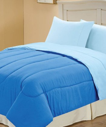 Marine & Blue Beautiful Microfiber Reversible Comforter