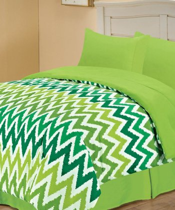 Green Beautiful Missy Reversible Twin Comforter