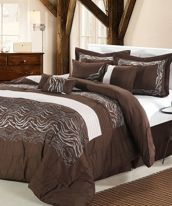 Brown Zebra Reversible Comforter