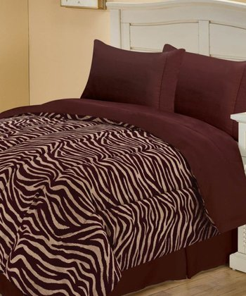 Brown Gorgeous Zebra Reversible Comforter