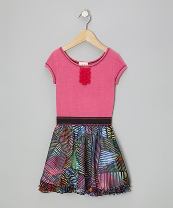 Fuchsia Stained Glass Dress - Toddler & Girls
