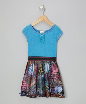 Turquoise Stained Glass Dress - Toddler & Girls