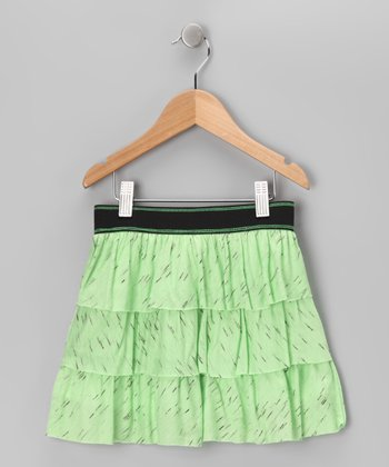 Green Tiered Ruffle Skirt - Toddler & Girls