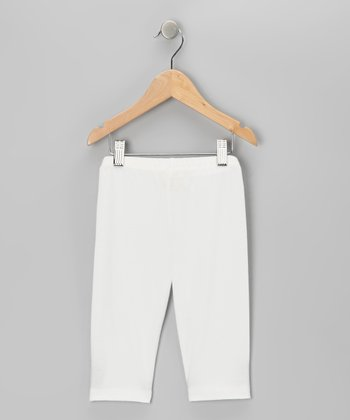 Ivory Capri Leggings - Toddler & Girls