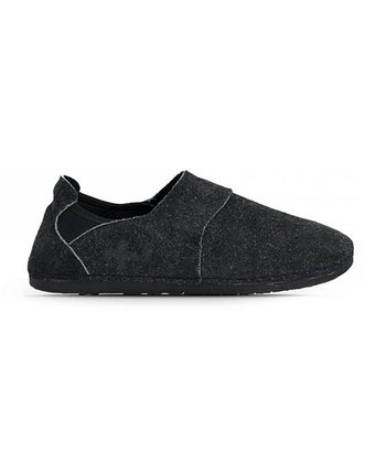 Black Shaggy Slip-On Shoe