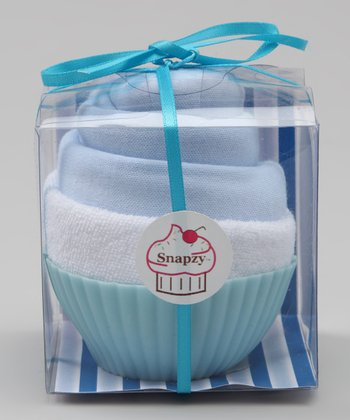 Light Blue Cupcake Bodysuit Set - Infant