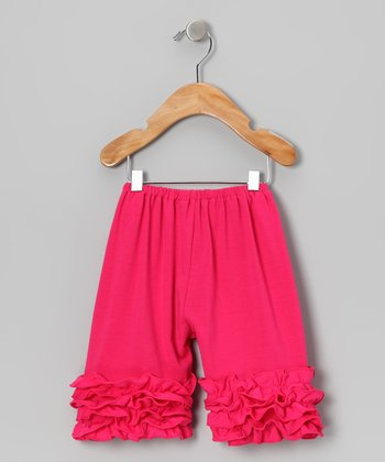 Hot Pink Ruffle Shorts - Toddler