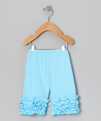 Light Blue Ruffle Shorts - Infant & Toddler