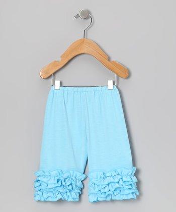Light Blue Ruffle Shorts - Toddler