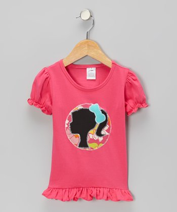 Hot Pink Pony Tail Tee - Infant, Toddler & Girls