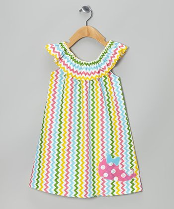 Rainbow Zigzag Whale Yoke Dress - Infant, Toddler & Girls