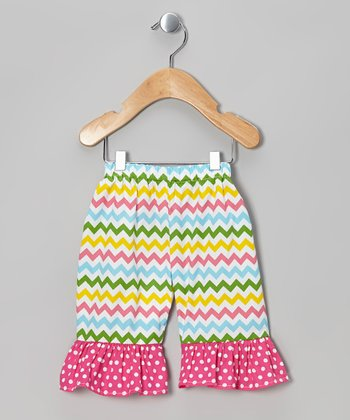 Rainbow Zigzag Ruffle Shorts - Infant, Toddler & Girls