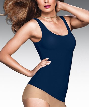 Navy Fat-Free Dressing Tailored Shaper Tank