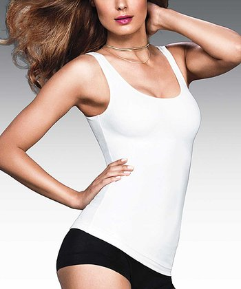 White Fat-Free Dressing Tailored Shaper Tank