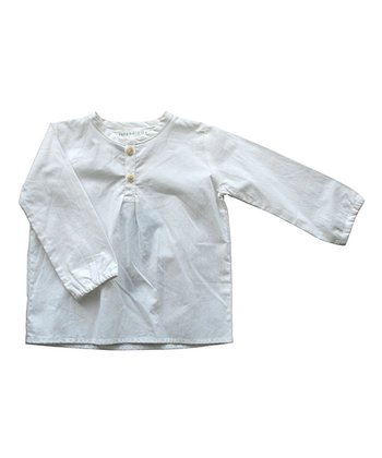 White Organic Shirt - Infant