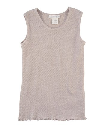 Khaki Pointelle Organic Tank - Infant, Toddler & Girls