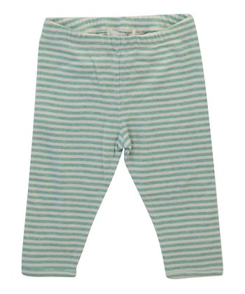 Green Stripe Organic Leggings - Infant