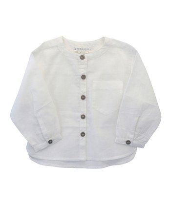 White Pocket Organic Shirt - Infant