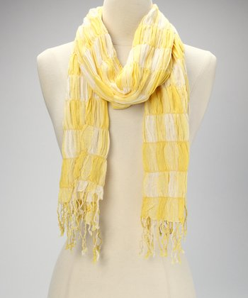 Yellow Gingham Scarf