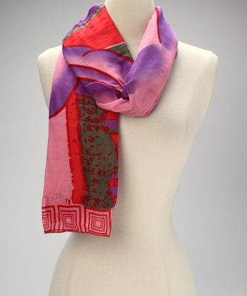 Pink Windy City Scarf