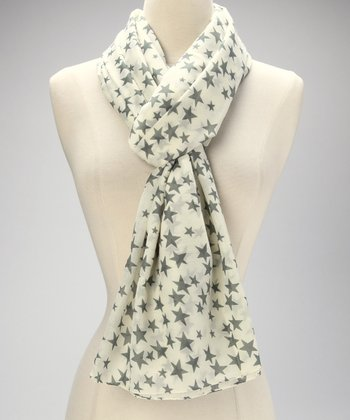 Gray Star Scarf